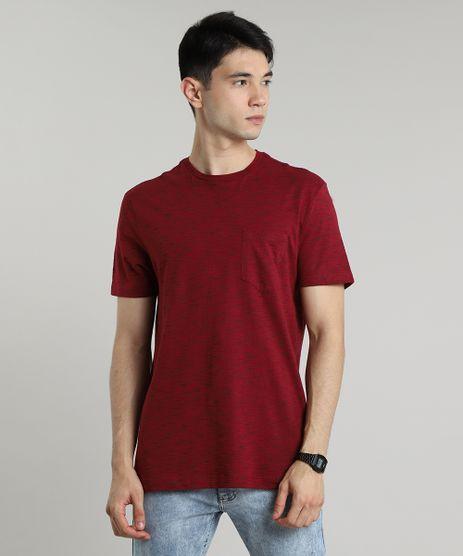 Camiseta-Masculina-Basica-Mescla-com-Bolso-Manga-Curta-Gola-Careca-Vinho-9682789-Vinho_1