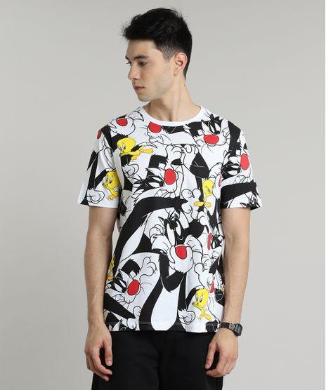 Camiseta-Masculina-Frajola-e-Piu-Piu-Estampada-Manga-Curta-Gola-Careca-Off-White-9689258-Off_White_1