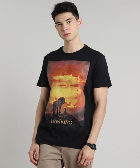 Camiseta-Masculina-O-Rei-Leao-Manga-Curta-Gola-Careca-Preta-9687482-Preto_1