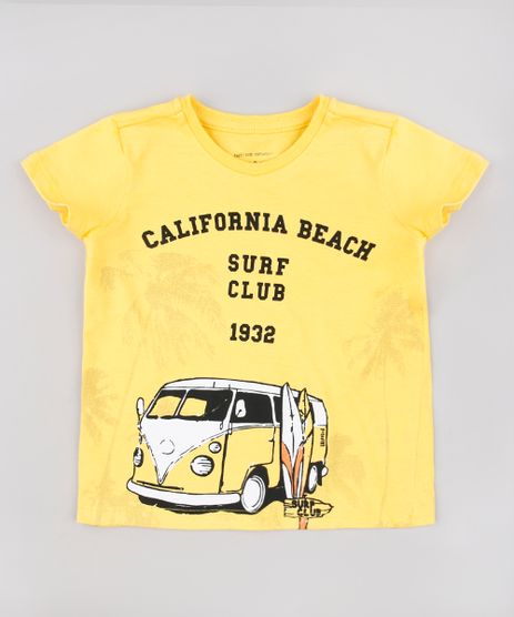 Camiseta-Infantil--California-Beach-Surf-Club--Manga-Curta-Amarela-9629793-Amarelo_1