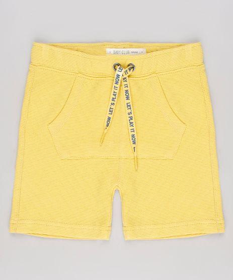 Bermuda-Infantil-Canelada-com-Bolso-Amarela-9544528-Amarelo_1