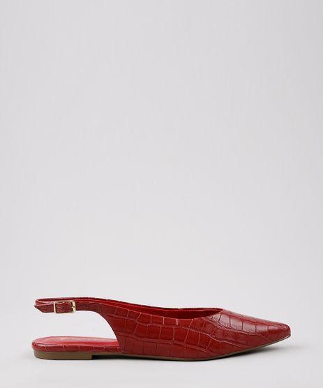 Sapatilha-Feminina-Oneself-Croco-Bico-Fino--Vermelha-9643507-Vermelho_1