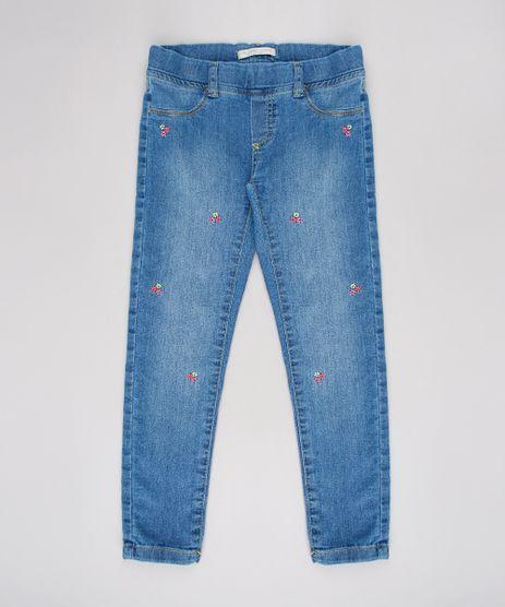 Calca-Jeans-Infantil-com-Bordado-Floral--Azul-Medio-9636032-Azul_Medio_1