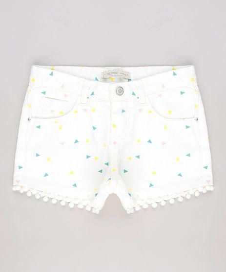 Short-de-Sarja-Infantil-Estampado-Geometrico-com-Pompom-Off-White-9620382-Off_White_1