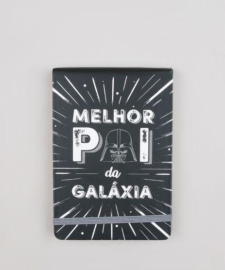 Bloco-de-Notas-com-Pauta-Darth-Vader-Star-Wars--Melhor-Pai-da-Galaxia--15x10cm-Preto-9684398-Preto_1