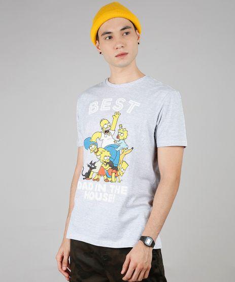 Camiseta-Masculina-Tal-Pai-Tal-Filho-Os-Simpsons--Best-Dad--Manga-Curta-Gola-Careca-Cinza-Mescla-Claro-9639882-Cinza_Mescla_Claro_1