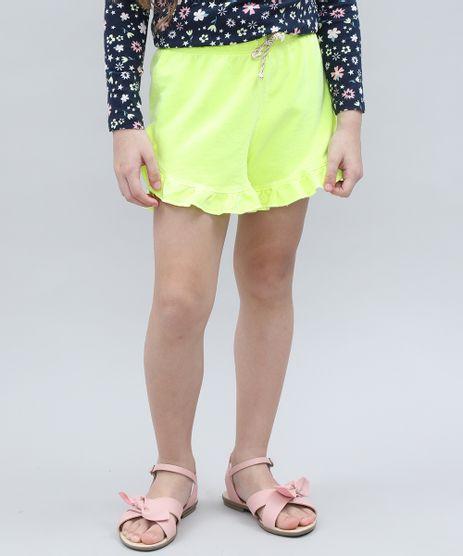 Short-Infantil-em-Moletom-com-Babado-Verde-Neon-9636687-Verde_Neon_1