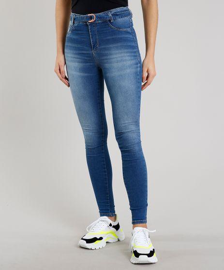 Calca-Jeans-Feminina-Sawary-Super-Skinny-com-Cinto-Azul-Medio-9671825-Azul_Medio_1