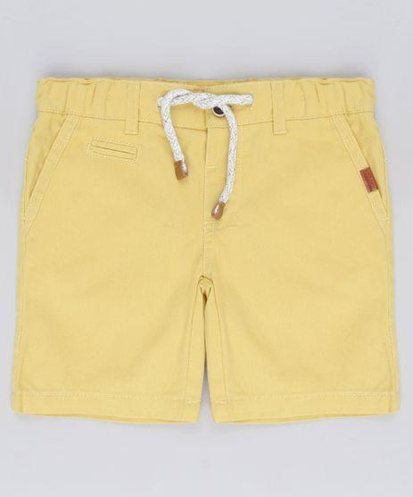 Bermuda-de-Sarja-Infantil-com-Bolso-e-Cordao-Amarela-9564069-Amarelo_1