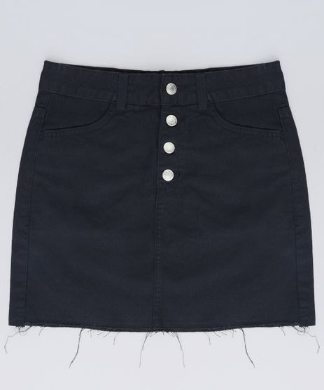 Saia-Jeans-Infantil-com-Botoes-Preta-9621583-Preto_1