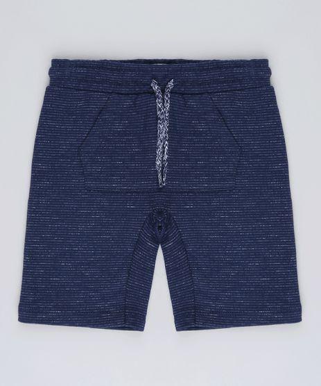 Bermuda-Infantil-Listrada-em-Moletom-com-Bolso-Canguru-Azul-Marinho-9623229-Azul_Marinho_1