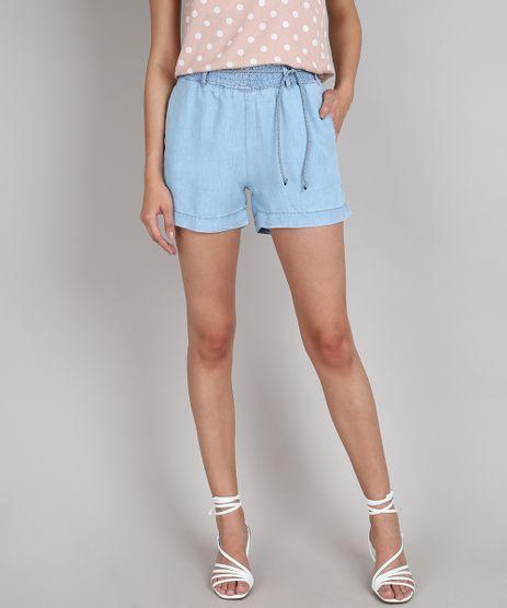 Short-Jeans-Feminino-com-Bolso-e-Cordao-Azul-Claro-9664657-Azul_Claro_1