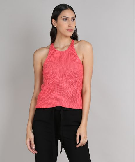 Regata-Feminina-em-Trico-Decote-Nadador-Coral-9552063-Coral_1