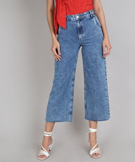 Calca-Jeans-Feminina-Pantacourt-com-Barra-Desfiada--Azul-Medio-9666391-Azul_Medio_1