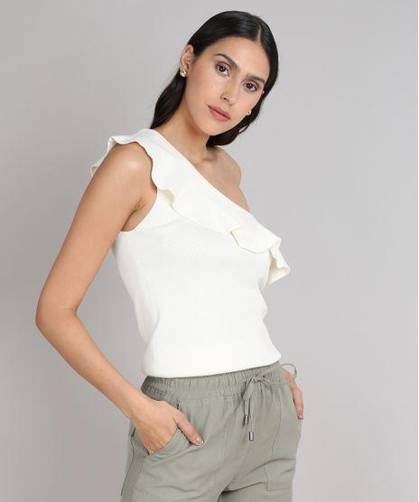 Blusa-Feminina-Um-Ombro-So-com-Babado-em-Trico-Off-White-9552060-Off_White_1