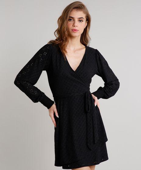 Vestido-Feminino-Mindset-Curto-em-Laise-Manga-Longa-Preto-9714345-Preto_1