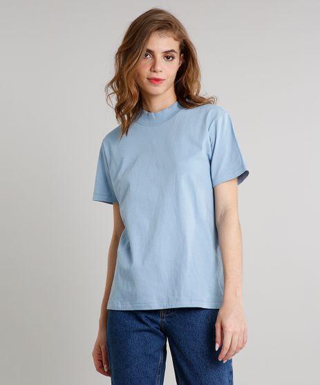 T-Shirt-Feminina-Mindset-Ampla-Manga-Curta-Decote-Redondo-Azul-Claro-9711631-Azul_Claro_1