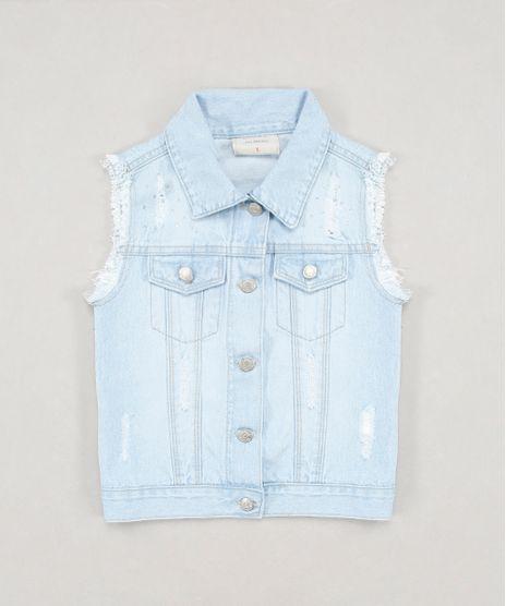 Colete-Jeans-Infantil-com-Rasgos-e-Strass-Azul-Claro-9246825-Azul_Claro_1