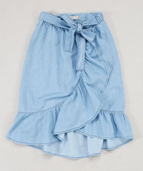 Saia-Jeans-Infantil-Midi-Transpassada-com-Amarracao-e-Babado-Azul-Claro-9654491-Azul_Claro_1