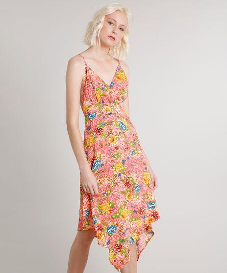 Vestido-Feminino-Midi-Assimetrico-Estampado-Floral-Coral-9557773-Coral_1