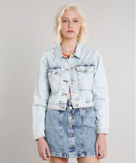 Jaqueta-Jeans-Feminina-Cropped-com-Bolsos-Azul-Claro-9662956-Azul_Claro_1