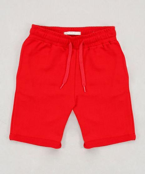 Bermuda-Infantil-em-Moletom-com-Bolso-Barra-Dobrada-Vermelha-9651240-Vermelho_1