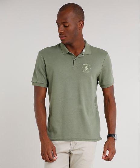 Polo-Masculina-Comfort-Fit--Botanical--com-Bordado-Manga-Curta-Verde-9589164-Verde_1
