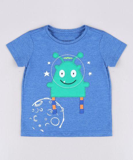 Camiseta-Infantil-com-Estampa-Interativa-de-Monstro-Astronauta-Manga-Curta-Azul-9629778-Azul_1