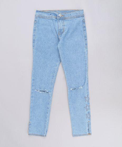 Calca-Jeans-Infantil-com-Rasgos-e-Estrela-Azul-Claro-9558825-Azul_Claro_1