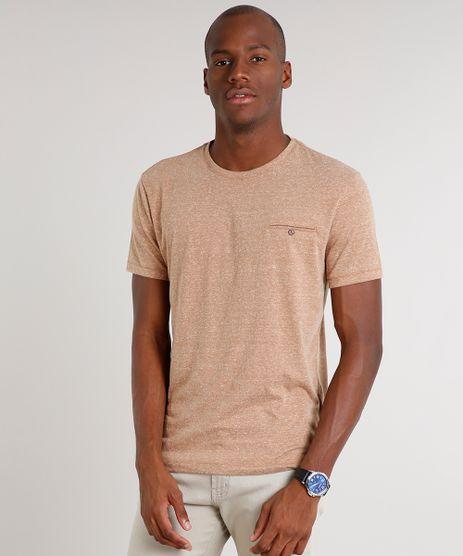 Camiseta-Masculina-Botone-com-Bolso-Manga-Curta-Gola-Careca-Bege-9524368-Bege_1