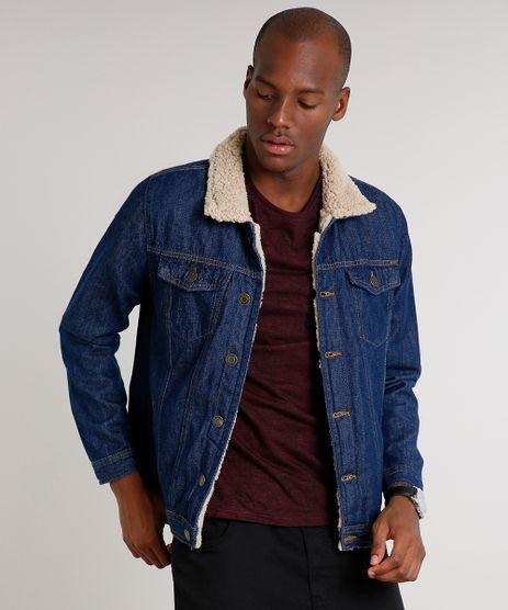 Jaqueta-Jeans-Masculina-Trucker-com-Pelo-Azul-Escuro-9534143-Azul_Escuro_1
