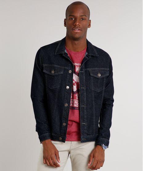 Jaqueta-Jeans-Masculina-com-Bolsos-Azul-Escuro-9610136-Azul_Escuro_1
