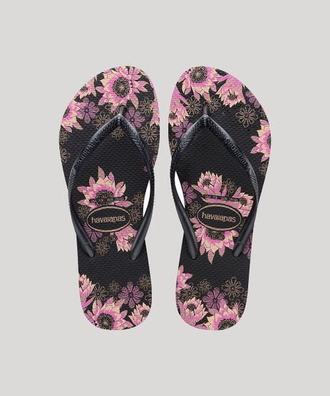 Chinelo-Feminino-Havaianas-Slim-Estampado-Floral-Preto-9666965-Preto_1