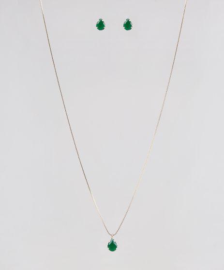 Kit-de-Colar---Brinco-Feminino-Folheados-com-Pedra-Zirconia-Dourado-9544867-Dourado_1
