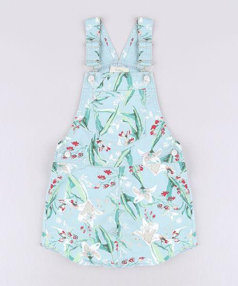 Jardineira-Short-Saia-de-Sarja-Infantil-Estampada-Floral-Verde-Claro-9583281-Verde_Claro_1