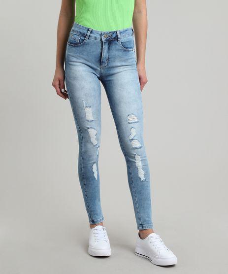 Calca-Jeans-Feminina-Sawary-Skinny-com-Rasgos-e-Bolsos-Azul-Medio-9671803-Azul_Medio_1