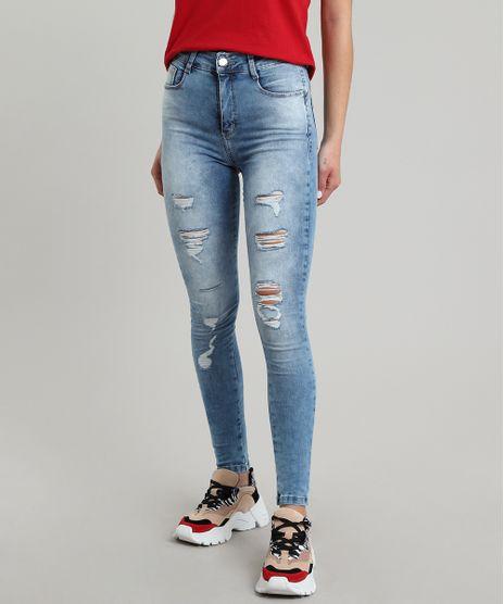 Calca-Jeans-Feminina-Sawary-Skinny-com-Rasgos-e-Bolsos-Azul-Medio-9619285-Azul_Medio_1