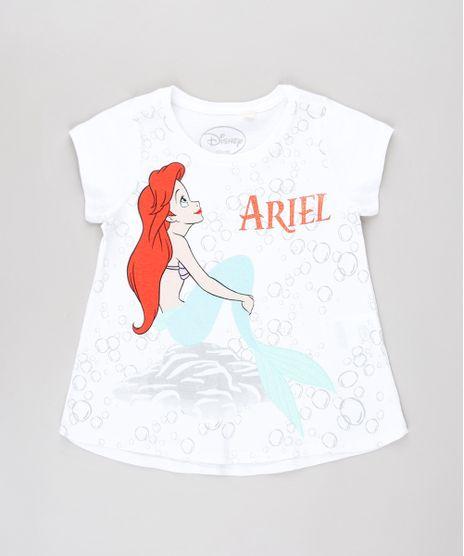 Blusa-Infantil-Pequena-Sereia-Ariel-com-Glitter-Manga-Curta-Off-White-9632324-Off_White_1