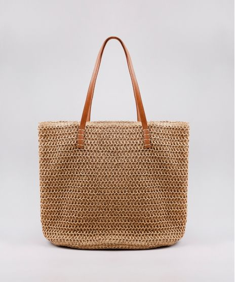 Bolsa-Feminina-Shopper-em-Palha-Bege-9602423-Bege_1