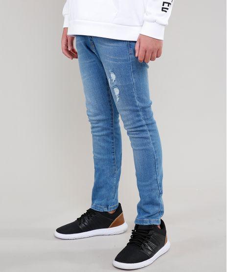 Calca-Jeans-Infantil-Skinny-com-Rasgos--Azul-Medio-9315931-Azul_Medio_1