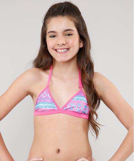 Biquini-Infantil-Estampado-Etnico-com-Protecao-UV50---Rosa-9522664-Rosa_1