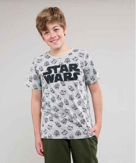 Camiseta-Infantil-Star-Wars-Estampada-Manga-Curta-Gola-Careca-Cinza-Mescla-9568830-Cinza_Mescla_1