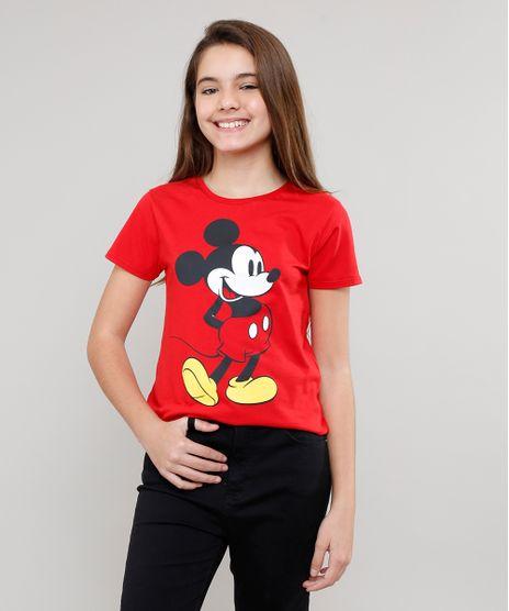 Blusa-Infantil-Mickey-Manga-Curta-Vermelha-9635648-Vermelho_1