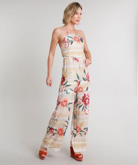 Macacao-Feminino-Frente-Unica-Estampado-Floral-Geometrico-Bege-9537103-Bege_1