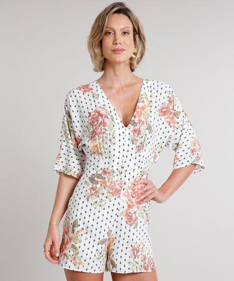 Macaquinho-Feminino-Estampado-Floral-Manga-Curta-Branco-9652318-Branco_1