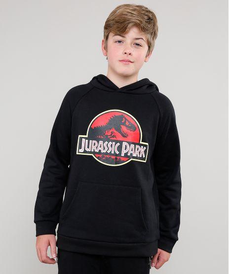 Blusao-Infantil-Jurassic-Park-em-Moletom-com-Capuz-Preto-9385975-Preto_1