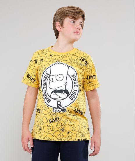 Camiseta-Infantil-Bart-Simpsons-Estampada-Manga-Curta--Amarela-9541652-Amarelo_1