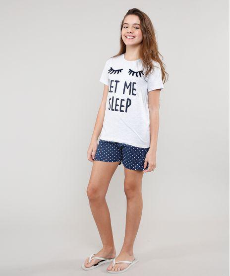 Pijama-Infantil--Let-Me-Sleep--Manga-Curta-Cinza-Mescla-Claro-9629784-Cinza_Mescla_Claro_1