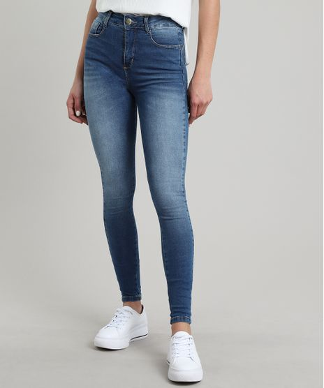 Calca-Jeans-Feminina-Sawary-Skinny-com-Bolsos-Azul-Escuro-9619284-Azul_Escuro_1
