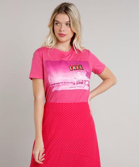 T-Shirt-Feminina-Mindset--Cafe--Manga-Curta-Decote-Redondo-Pink-9722992-Pink_1